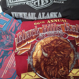 Harley Davidson Tee Shirt Lot Bundle of 3 Pieces L